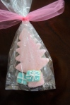 Medium Pink Tree and Two Mini Blue Cookie Gifts