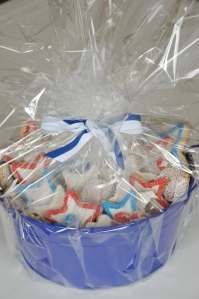 Patriotic Star Cookies, Mini Hearts and Sugared Rounds